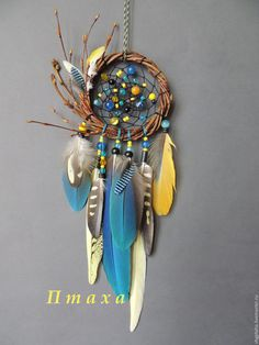 I wish dream catcher were real! Dream Catcher Craft, Dream Catcher Mobile, Blue Dream Catcher, Dreamcatchers, Beautiful Dream Catchers, Diy And Crafts, Arts And Crafts, Medicine Wheel, Feather Crafts