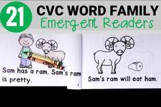 Free and Easy Never-ending CVC Word Game Reading Intervention Classroom, Teaching Reading, Teaching Ideas, Cvc Word Families, Reading For Beginners, Kindergarten Literacy, Preschool Activities, Emergent Readers, Cvc Words