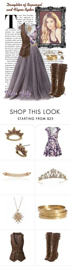 """""""Daughter of Rapunzel and Flynn Ryder- Legacy day"""" by shylagirl1229 ❤ liked on Polyvore featuring beauty, Betsey Johnson, Oneness, Georges Hobeika, Maison Mayle, TIARA and Jigsaw"""