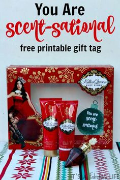 You Are Scent-Sational Free Printable Gift Tag - #GiftingAMemory #ad