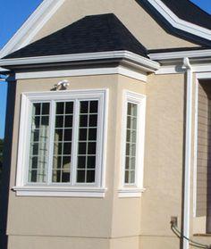 Stucco stucco trim foam trim free shipping e z do it yourself install house exterior for Exterior window trim on stucco