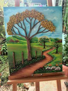 Clay Wall Art, 3d Wall Art, Mural Art, Art 3d, Polymer Clay Painting, Polymer Clay Crafts, Sculpture Painting, 3d Painting, Fabric Painting