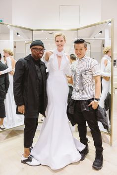 Canadian designers Kirk and Stephen of Greta Constantine created a bridal collection just for us!