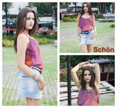 Look camiseta + saia Schön
