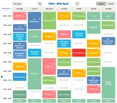 make a school timetable online free