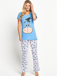 Disney Eeyore Pyjamas One of your favourite Winnie the Pooh characters… Cute Pjs, Cute Pajamas, Adult Pajamas, Pyjamas, Pajama Outfits, Disney Outfits, Lazy Day Outfits, Cool Outfits, Disney Pajamas