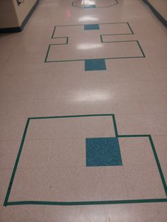 MATH DISPLAY IDEA~  Use this clever visual to teach students area and perimeter while they stand in line waiting for the restroom or lunch!