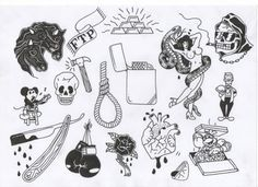 tumblr tattoo flash - Google Search