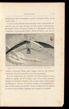 appareil volant (1874) - from Histoire de mes ascensions. Récit de quarante voyages aériens (1868-1886) / par Gaston Tissandier