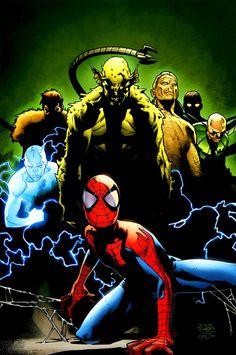 Ultimate Spider-Man Cover: Spider-Man, Green Goblin, Sandman, Electro, and Vulture Marvel Comics Poster - 30 x 46 cm Ultimate Spider Man, Ultimate Marvel, Channing Tatum, Marvel Comic Character, Character Art, Venom, Comic Books Art, Comic Art, Sinister 6