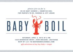 baby shower invitations - Baby + Boil by Lauren Chism