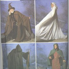 Wizard Cape Tunic & Hat Costume  Misses'  Womens'  by akashaonline, $10.00