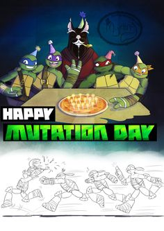 TMNT - Happy Mutation Day by Myrling.deviantart.com on @DeviantArt