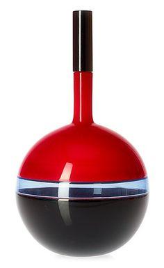 Timo Sarpaneva, decanter with stopper, Venini, Murano, Italian Murano Glass, Art Of Glass, Vintage Pottery, Ceramic Artists, Glass Design, Lassi, Colored Glass, Sculpture, Ceramics