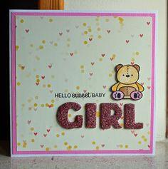 Card critters bear teddy bear card kid birthday - Picturing the World Susanne design, Stjernesus design, #bearcard Mama elephant stamp set