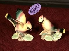 Rare Vintage Ceramic Yellow Cardinal Birds Sitting on a Branch Salt and Pepper Shakers Made in Japan by XtraLoveIncluded on Etsy