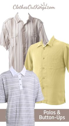 Men's Polos and Button-Ups. Get ready for warm weather with our great selection of polos from Perry Ellis, Alfani, Izod and Calvin Klein at prices that will fit your budget.