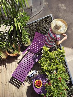 Bright Violet: Revive the Patio - Creative Ways to Paint With Fall's Trending Colors on HGTV