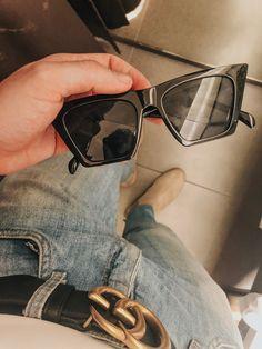 men outfit details look Levi's jeans gucci belt celine sunglasses Zara boots