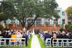 Get the backyard wedding feel in our San Antonio outdoor venue, Aunt Mary's Lawn. You'll be in our beautiful backyard sharing this memorable moment with family and friends.