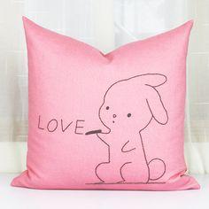 Cute rabbit easter bunny pillowcase rabbit cushion by PerfectHM