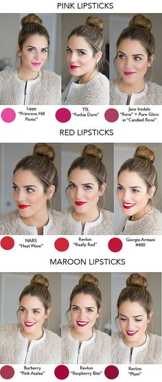 COMPARISON :: Red Lipsticks :: Color matched in photoshop, too! Links for where to purchase each shade. | #galmeetsglam #redlipstick #redlips