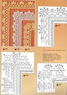 Borte Spitze häkeln - crochet border edging - barradinhos - Emys Gallery: Crochet patterns-molti schemi da scaricare singolarmente come immagini