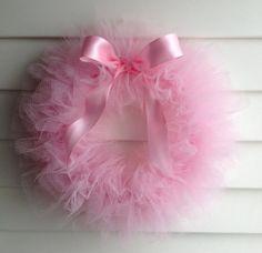 Ballerina Party Tutu Wreath/ It's a Girl Wreath 12 by shopfluff, $28.00