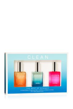 CLEAN Summer Trio Set includes: - CLEAN Summer Escape - CLEAN Summer Sailing - CLEAN Summer Linen