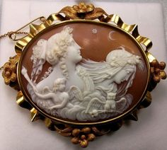 Beautiful Cameo of the Allegory of the Day and Night