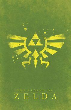 Legend of Zelda Hyrule Crest Video Game Poster by WestGraphics