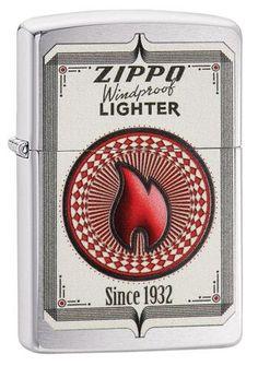 Zippo Trading Cards design on brushed chrome Zippo Lighter