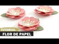 DIY - Como fazer uma flor de papel - YouTube