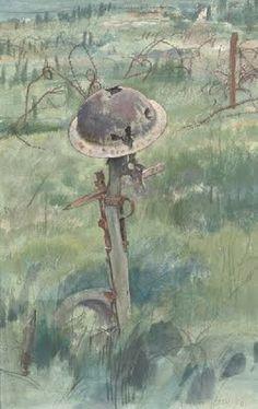 Soldier's grave, Martin Le Puich by Eric Kennington (1888-1960), 1919.