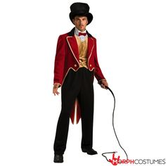 Buy this men's circus ringmaster fancy dress costume online. Ring in the lions in this men's circus ring master fancy dress costume. This fantastic men's circus costume is perfect to tame all the animals at your next fancy dress party! Great Halloween Costumes, Unique Costumes, Halloween Fancy Dress, Adult Costumes, Adult Halloween, Clown Costumes, Halloween Ideas, Halloween 2014, Carnival Costumes