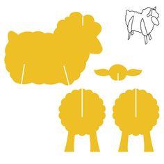 Shapes – Page 2 – AccuCut – Handwerk und Basteln Sheep Crafts, Wood Crafts, Diy And Crafts, Crafts For Kids, Paper Crafts, Cardboard Animals, Cardboard Toys, Paper Toys, Cardboard Furniture