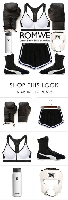 """Boxing"" by chiaral95 ❤ liked on Polyvore featuring Elisabeth Weinstock, Puma, Leone 1947, contest and romwe"