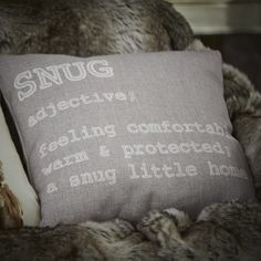 Cushions are even better when they come with instructions. It's time to snuggle up!