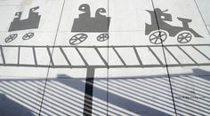 Street art Damon Belanger peint de fausses ombres dobjets perturbantes  2Tout2Rien