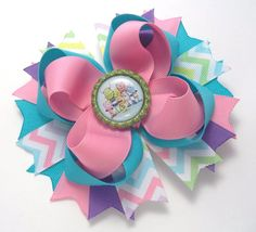 Henry Hugglemonster Hair Bow  Baby Toddler by JustinesBoutiqueBows