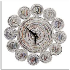 Newspaper Craft Ideas Arts And Crafts To Do At Home intended for News Paper Crafts Recycle Newspaper, Newspaper Crafts, Old Newspaper, Recycled Paper Crafts, Recycled Magazines, Crafts To Do, Arts And Crafts, Diy Crafts, Paper Clock