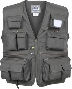 Uncle Milty's travel vests are great for touring, sightseeing, photography,or any adventure. These poly-cotton vests feature 17 pockets with zip front closure, inside and back pockets, belt loop and D