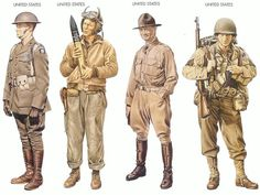 United States - 1942 Jan., Iceland, Captain, US Marine Corps United States - 1942 Nov., Morocco, Corporal, Tank Battalion United States - 1942 Nov., Morocco, Lieutenant-Colonel, 1st Cavalry Division United States - 1942 Nov., Oran, Staff Sergeant, 1st Inf. DIvision