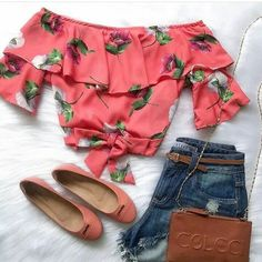 Beautiful summer image - ideas of stylish bows for the summer Crop Top Outfits, Short Outfits, Outfits For Teens, Spring Outfits, Trendy Outfits, Cool Outfits, Mode Rock, Teen Fashion, Fashion Outfits