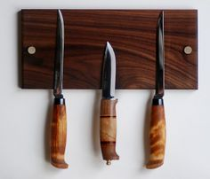 Walnut Knife Holder