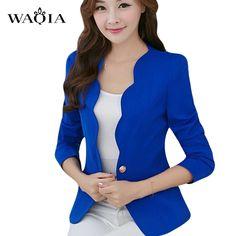 2016 Brand Autumn Cueca Casual Blusas Femininas Jacket Women Slim Short Design Suit Jackets Office Women Coat Clothing Vestidos