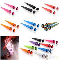 2pcs 6 8mm Illusion Ear Cheater Falso Rivet Taper brincos Homens Mulheres em Brinco de brilhante de Jóias no AliExpress.com | Alibaba Group