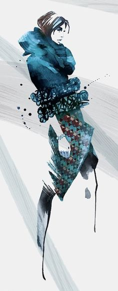 by Ellie Rahim #fashion #illustration #fashionillustration