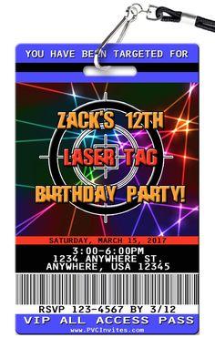 Laser tag party invitations template free maura pinterest laser tag birthday invitation filmwisefo