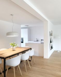 Office Interior Then I dare to post here the first picture from our new home … Rustic Kitchen Design, Dining Room Design, Dining Area, Kitchen Interior, Home Interior Design, Küchen Design, House Design, Cuisines Design, Scandinavian Home